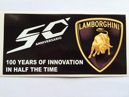 1 Lamborghini 50th 50 Year Anniversario Die Cut Decal