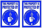 2 This Property Protected By 2nd Amendment Security by SBD Decals
