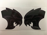 2 Black on Black Dodge Mopar Hell Cat Challenger Charger Hellcat Die Cut Decals by SBD DECALS (2 inch)
