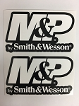 2 Smith & Wesson M & P AR15 Die Cut Decal BLACK BACK