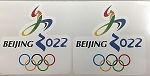 2 - Beijing 2022 Olympics Die Cut Decal