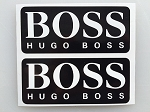2 Black Hugo Boss Die Cut Decals