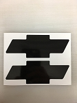 2 Chevrolet Chevy Bowtie Decal by SBD Decals VARIOUS SIZES & COLOR (4 inches, BLACK)