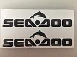 2 Sea Doo Die Cut Decals Various Sizes by SBD Decals (8 inch)