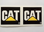 2 Caterpillar Square Die Cut Decals Various Sizes by SBD Decals (2 Inches)