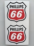 2 Phillips 66 Die Cut Decals by SBD DECALS