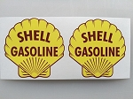 2 Shell Gasoline Die Cut Decals Old Logo