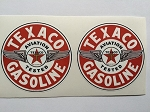 2 Texaco Gasoline Aviation Tested Wings Die Cut Decals