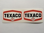 2 Texaco Badge Style Die Cut Decals by SBD DECALS