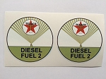 2 Texaco Diesel Fuel 2 Die Cut Decals