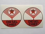 2 Texaco Diesel Chief Die Cut Decals
