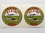 2 Texaco Marine Fuel Die Cut Decals