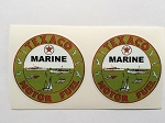 2 Texaco Motor Fuel Die Cut Decals