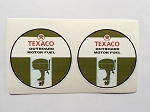 2 Texaco Outboard Motor Fuel Die Cut Decals