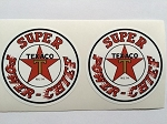 2 Texaco Super Power - Chief Die Cut Decals