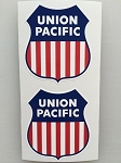 2 Union Pacific Die Cut Decals by SBD DECALS (Click New From)