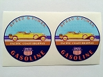 2 Union Gasoline Pacific Coast Highway Speed & Power Die Cut Decals