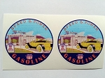 2 Union Gasoline Speed & Power Yellow Car Die Cut Decals